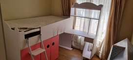 Princess 3/4 bed with desk.