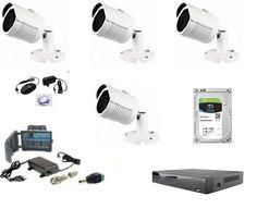 Kamery FULL HD 2MPX zewnętrzne do Monitoringu - Kompletny Zestaw!