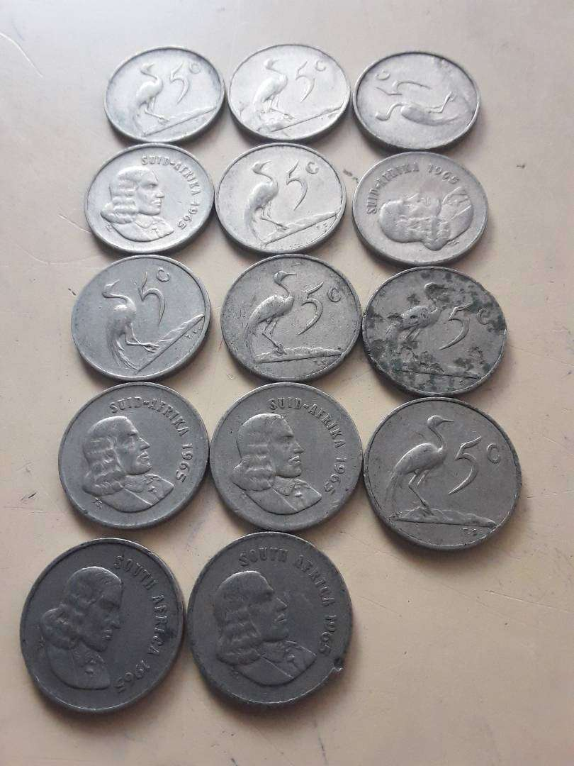 South african old coins 0