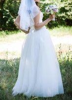 Свадебное платье р 44 жемчуг