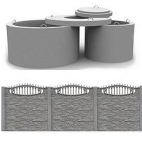 Забор бетонный (еврозабор), кольца армированные от производителя