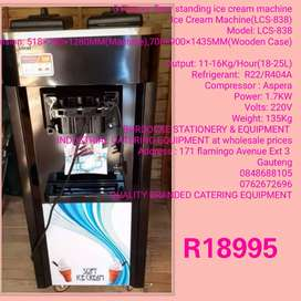 Brand new 3 flavor floor model ice cream machine