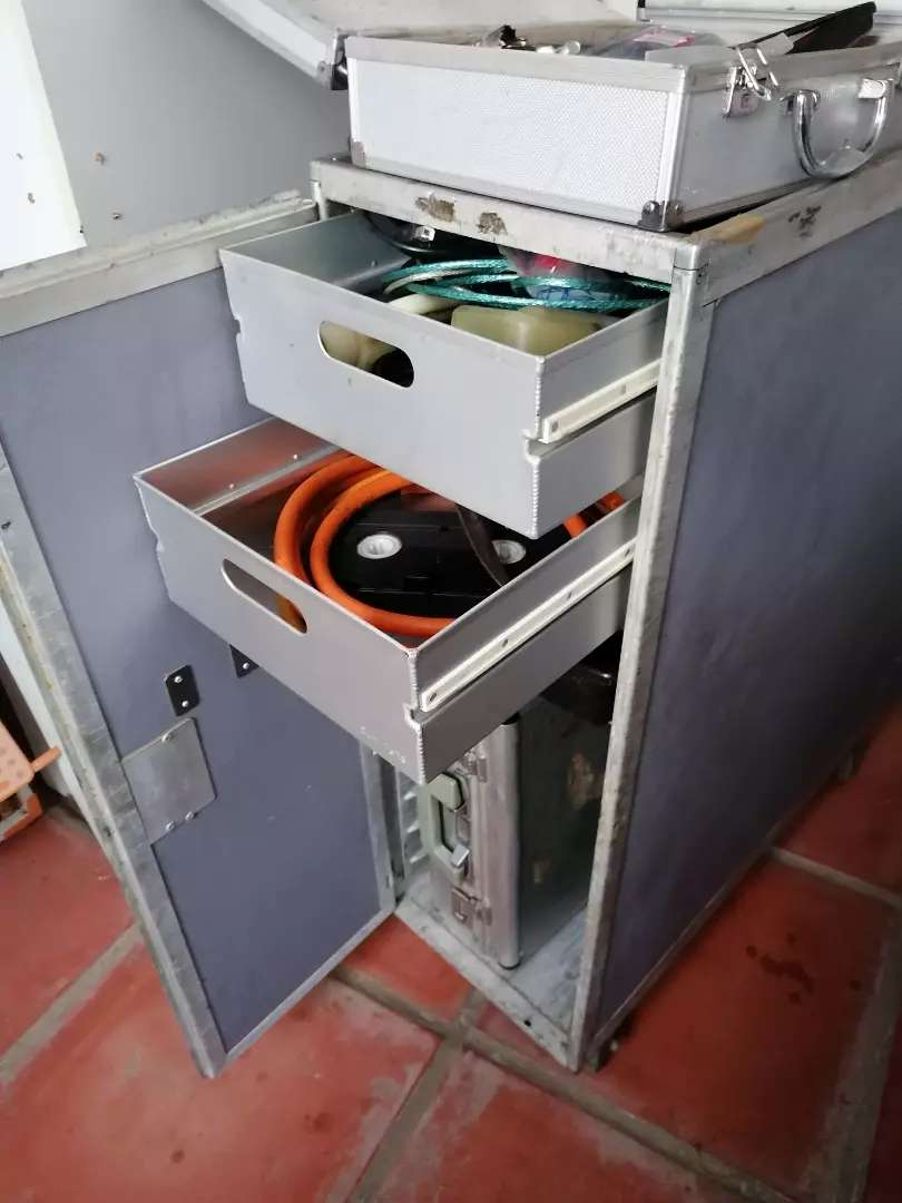 Aluminum solid Tool cabinet on wheels with sliding drawers 0