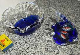 Fish in Fish and Bowl Glass Ornaments