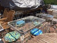 Image of 6 Piece Wrought Iron Patio Suite