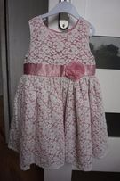 sukienka koronka 92-98, 2-3latka