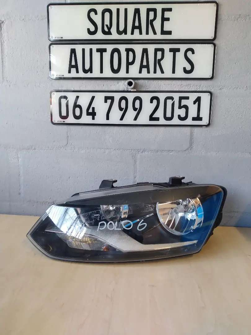 VW POLO 6 HEADLIGHT. LHS