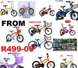 "kids bicycles 10"" -24""   bicycles from R490 -really great prices"