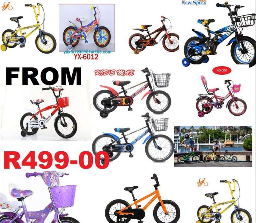 "kids bicycles 10"" -24""   bicycles from R490 -really great prices 0"