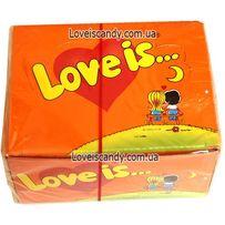 Жвачка жевательная резинка Love is блок Апельсин-Ананас 100шт. Турция
