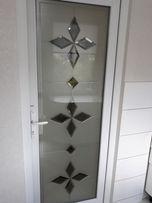 Двері металопластикові з вітражем, нові зі складу , вхідна група від a