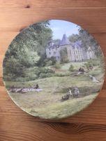 Ozdobny talerz porcelanowy firmy LIMOGES