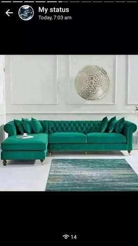 L shape Chesterfield couch