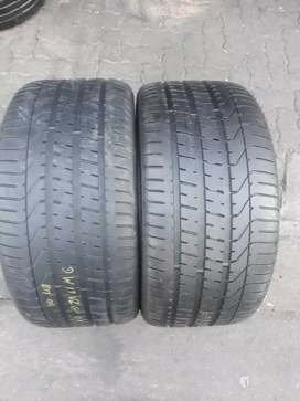 Two quality second hand tyres sizes 315/35/20 Pirelli run flat