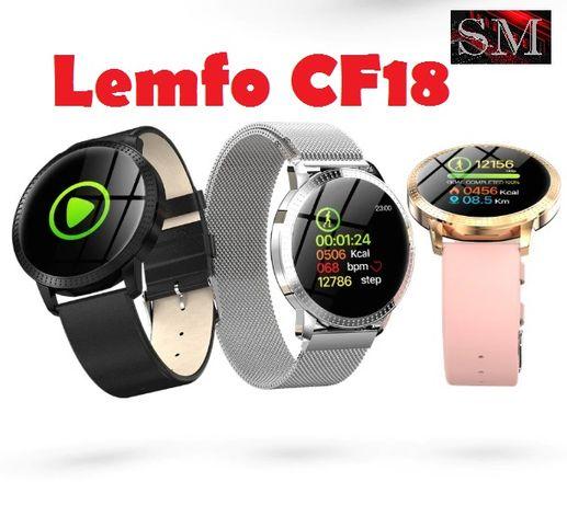 Фитнес браслет LEMFO CF18 с цветным екраном, тонометром давления крови Львов - изображение 1