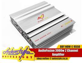 AudioFusion 3000w 2 Channel Amplifier  - rms at 4ohm - 2x60w - rms at