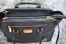 Orginalna skórzana torebka Michael Kors -kuferek