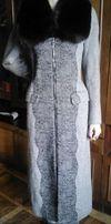 Новое пальто с натуральной чернобуркой