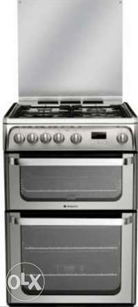 Hotpoint stainless gas cooker 0