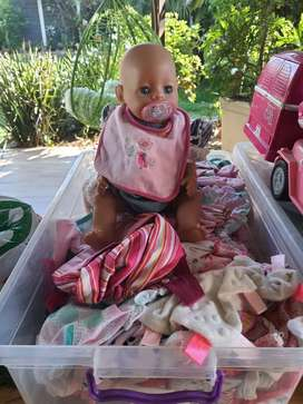 New born baby and clothes