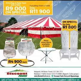 Pvc tents for church and funerals