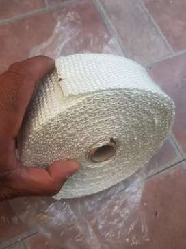 Exhaust manifold down pipe heat wrap