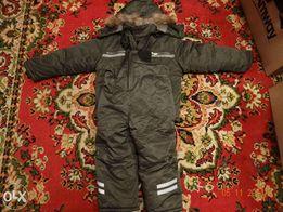 Зимний комбинезон (костюм) зеленый (куртка и штаны)