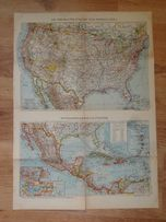 Niemcy 1942 wojskowa mapa USA i broszura, oryginał + gratis zobacz