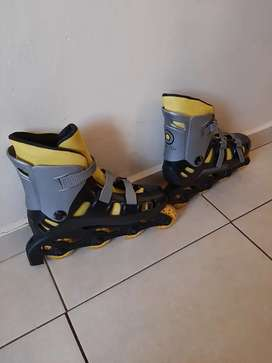 Black and Yellow Inline skates.