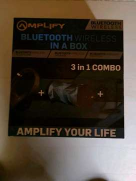 AMPLIFY BLUETOOTH WIRELESS  3 IN 1 Combo for sale R1000 brand new