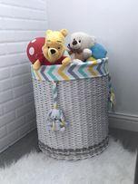 Корзина для іграшок, плетений кошик, короб для зберігання