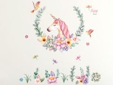 Naklejki ścienne naklejka na ścianę unicorn jednorożec Haba