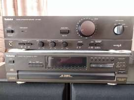 Technics Class A amp and CD player