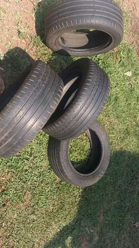 2nd hand continental tyres 225/55/R16 tyres