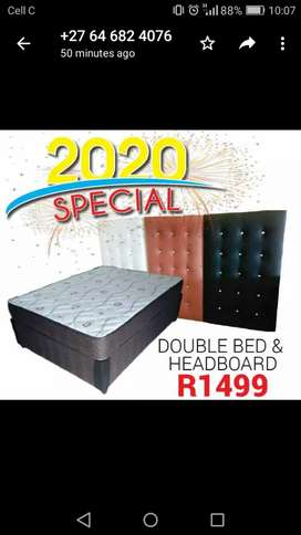 BRAND new double bed with headboard