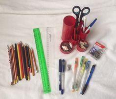 Канцелярия,органайзер,ручки,карандаши,линейки,ножницы,скрепки