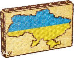 Мапа України (з 10 000 сiрникiв!) - Карта Украины (из спичек без клея)