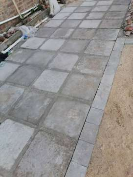 paving slabs supply and fit.