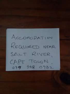 Accomodation Required in Cape Town