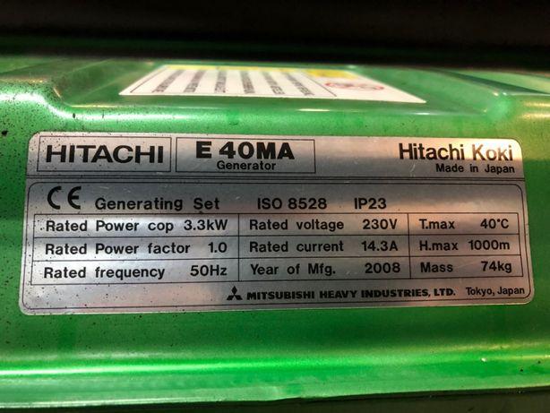 Profesjonalny agregat prądotwórczy HITACHI E40MA 3,3kW stabilizacja Myszków - image 4