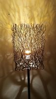 Lampa stojąca handmade chromowana