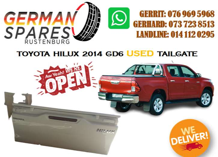 TOYOTA HILUX 2014 GD6 TAILGATE FOR SALE