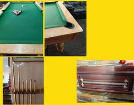 Pool Table solid Oak & Slate
