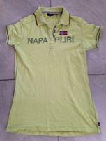 bluzka koszulka polo zielono-żółta limonka NAPAPIJRI ok -M