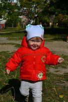 Весенняя курточка на флисе на девочку размер 80