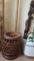 wazon egzotyczny lite drewno