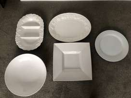 Beautiful white serving platters