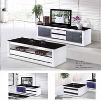 Image of Glass paint TV cabinet and coffee table