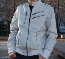 Мужская кожаная куртка John Devin (Размер S)