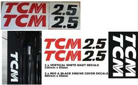 T.C.M forklift decals stickers kits